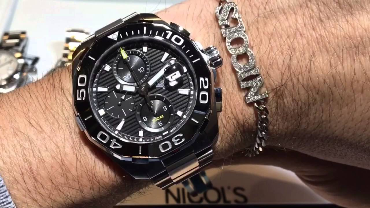 98b6ab22e8d Relojes Tag Heuer Aquaracer 300m - En Español - YouTube