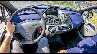 2002 Fiat Multipla I [1.6 103hp]  0-100  POV Test Drive #841 Joe Black