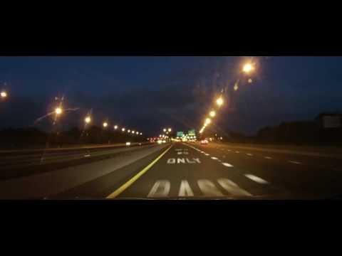 Driving on Florida State Road 570 around Lakeland at night