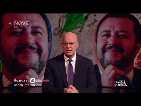 Crozza e il monologo su Salvini, il capitano volante