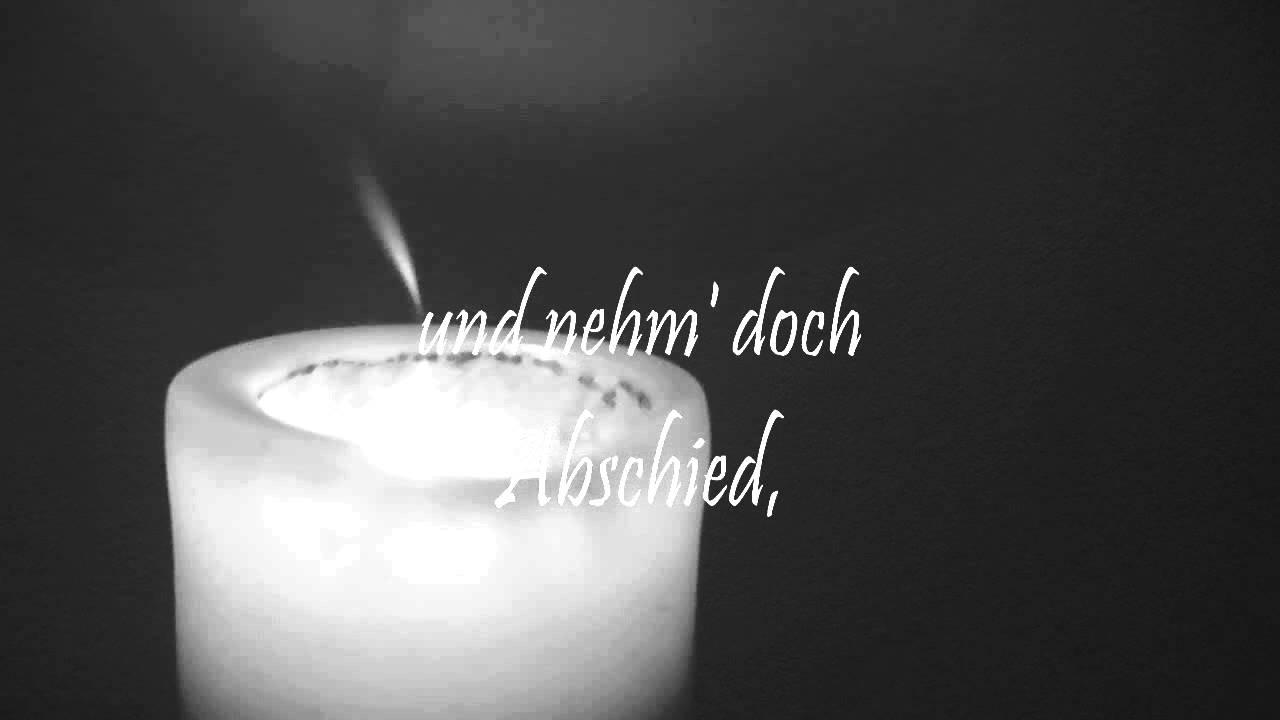 Abschied Von Dir Trauerlied Zur Beerdigung Trauerfeier Lied über Tod Lieder Von Thomas Koppe