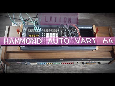 Analog Drum Machine Hammond Auto Vari 64 mid 1970 meets Eurorack drum sequencer from Erica Synths