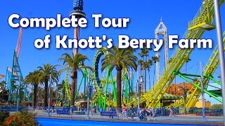 [HD] Complete Tour of Knott's Berry Farm - America's 1st Theme Park