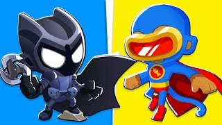 Bloons TD 6 - 4-Player Batman VS Superman Challenge | JeromeASF