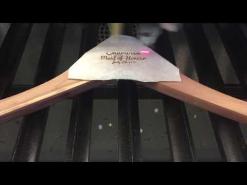 Laser Engraved Personalized Clothes Hangers