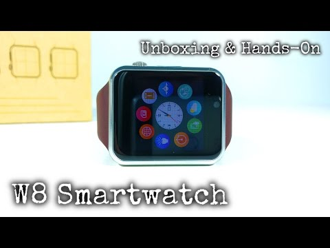 W8 Smartwatch GSM UNBOXING & Hands-On - Apple Watch Clone?