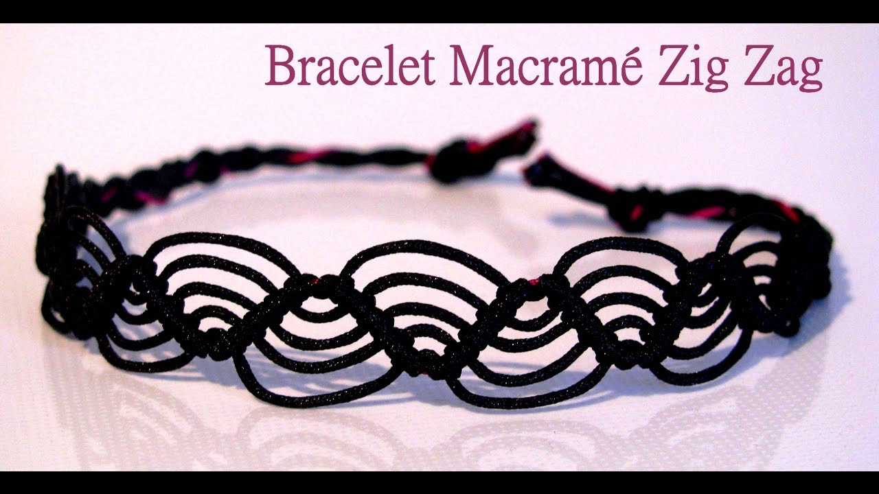 site réputé 5d18a 77770 How to make a Zig Zag MACRAME Bracelet ? Easy Tutorial