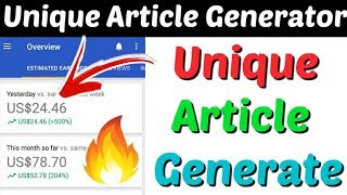 Unique Article Generator 2020 | Generate Unique Article | Best Article Rewriter | Plagiarism-Remover