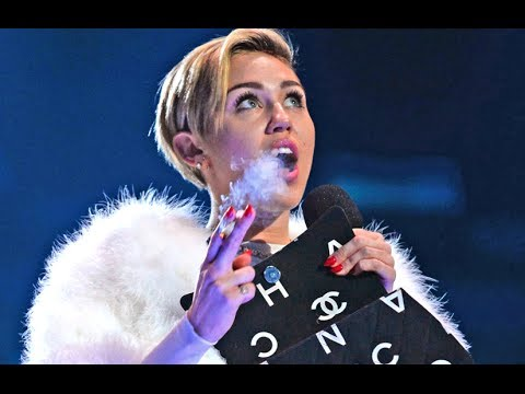 Miley Cyrus Smokes Weed On Stage At MTV EMAs 2013!
