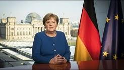 """Merkels TV-Ansprache: """"Diese Situation ist ernst und sie ist offen"""""""