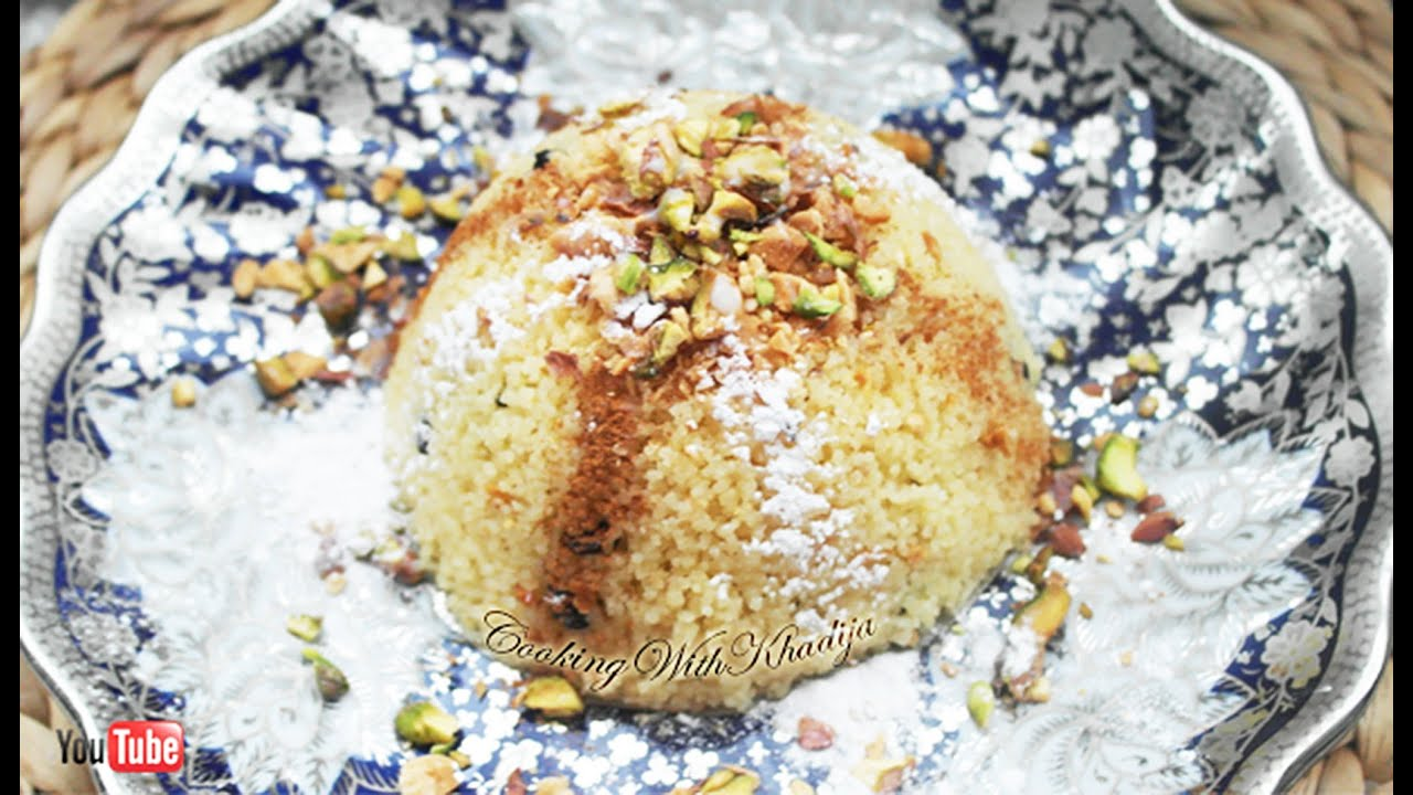 Seffa ( Sweet Couscous With Almonds Pistachio and Currants ...