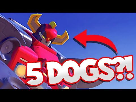 POWER RANGER GOLF DOGS | 100 ft Robot Golf Campaign Gameplay