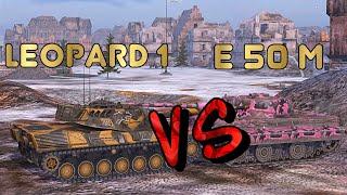 нА ЗАБИВ #5   Какой немец лучше   Leopard 1 или E 50 M   WoT Blitz   Zlobina Liza