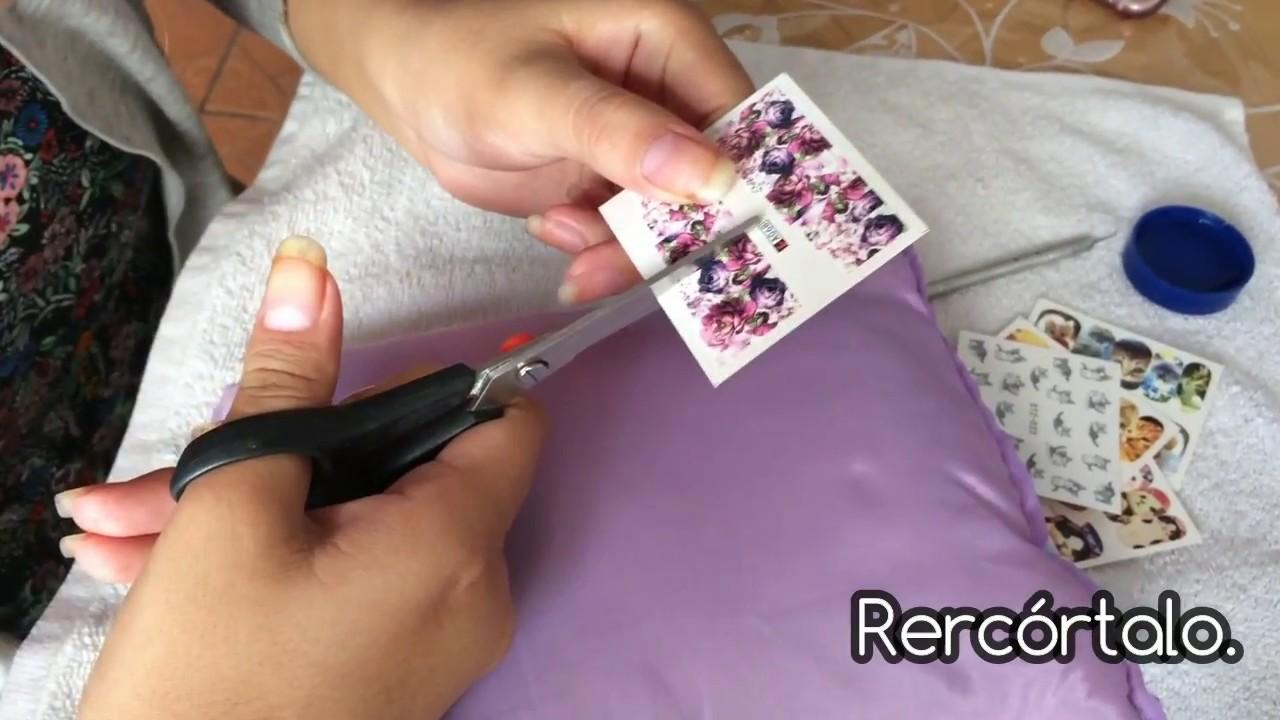 Tatuajes Al Agua Para Uñas Aplicación Artemisa Nails