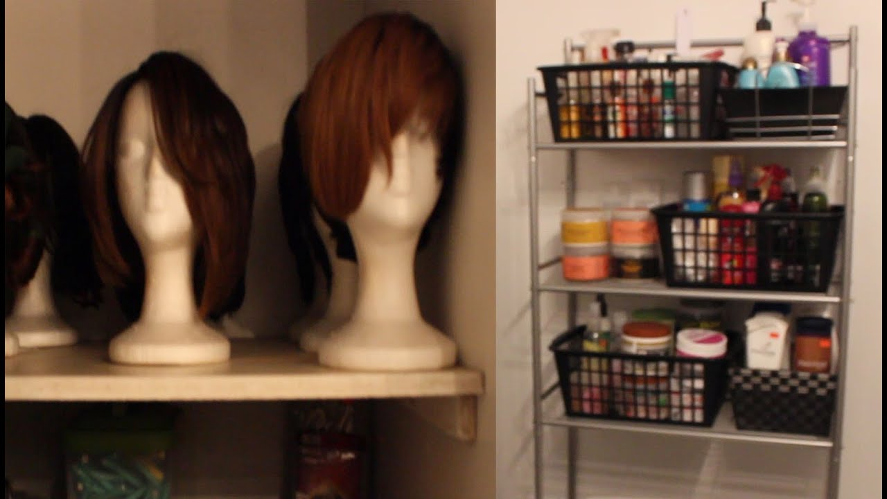 Delightful Storage Tour| Wigs, Hair Products, Etc....   YouTube