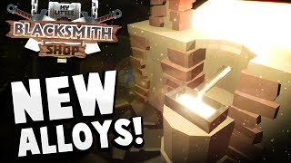 Creating NEW Alloys, Steel Pickaxe & Exploring the Water! - My Little Blacksmith Shop Gameplay