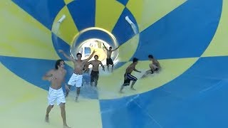 kids fools around in waterslide... and then this happened...
