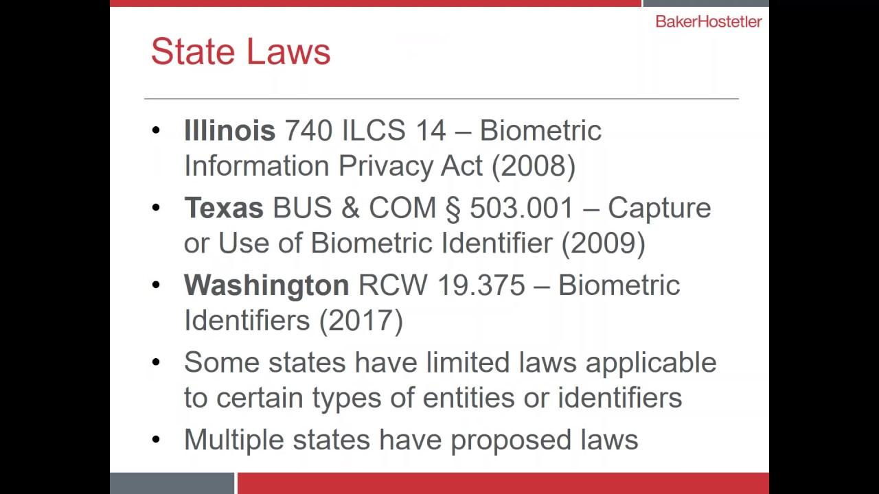 Webinar: Emerging Biometric Data Risks | BakerHostetler