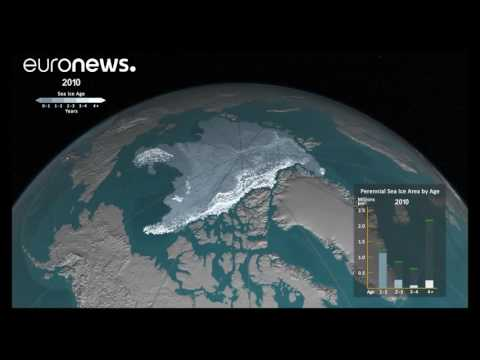 How ice has melted in the Arctic Ocean since 1984