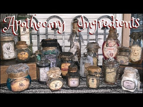 HALLOWEEN DIY DECOR | Apothecary Bottles & Magical Ingredients