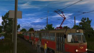 Trainz Simulator  12. Карта Чапаево. Маршрут 2.(Скачать трамвай:http://vtl-trainz.at.ua/load/trainz/podvizhnoj_sostav/tramvaj_tatra_t3/5-1-0-80 Скачать ..., 2017-02-25T15:26:42.000Z)