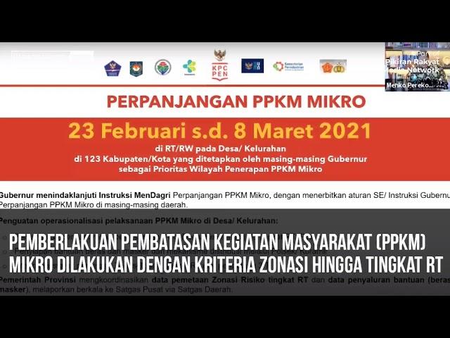 ZONASI TINGKAT RT TENTANG PPKM MIKRO | COVID-19