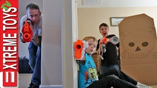 Home Alone Nerf Battle! Sneak Attack Squad Protects the House! thumbnail