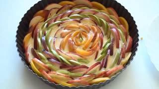фруктовый пирог.Как приготовить вкусный пирог. Fruit pie.How to cook a delicious pie