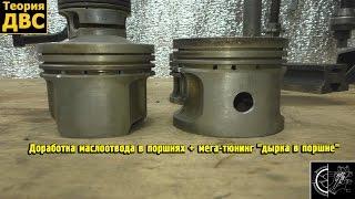 Mega tuning + bu pistons ichida neft discharger hamda Finalization ''piston buteshik''