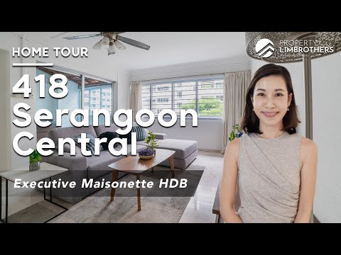 418 Serangoon Central Singapore Executive Maisonette Home Tour in District  19 | $915K