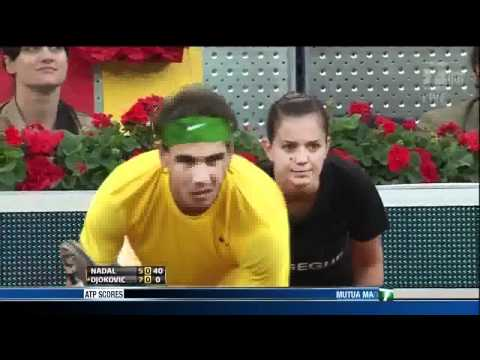 Novak Djokovic wins Madrid Masters 7-5 - 6-4 vs Nadal - 08/05/11 - HD