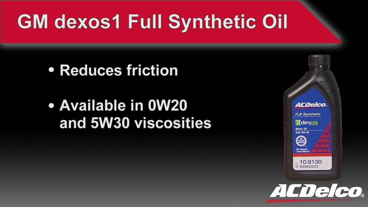 Motor oil gm oe dexos1 full synthetic oil acdelco youtube for Where to buy motor oil