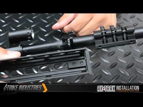 AK Modular / KeyMod Handguard Rail-TRAX-1 Installation