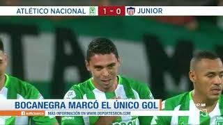 Nacional vs Junior, resumen y goles ida cuartos Copa Águila