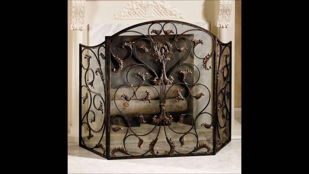 decorative fireplace screens design ideas youtube