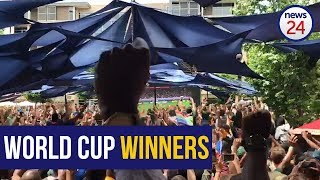WATCH | The moment proud SA erupts in cheers as Springboks win the Rugby World Cup