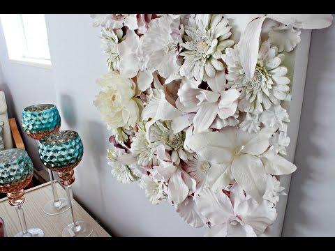 DIY: 3D Flower Canvas Wall Art - DIY Mother's Day gift !