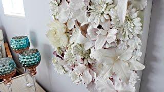 Diy: 3d Flower Canvas Wall Art   Diy Mother's Day Gift !