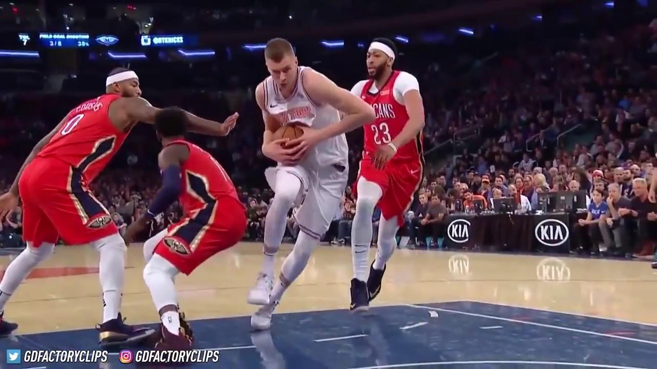 cebb985b2 Anthony Davis vs Kristaps Porzingis BIG MAN Duel Highlights 01 14 Pelicans  vs Knicks. King Zaddy1804