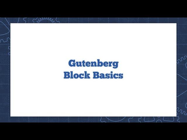 WordPress Gutenberg Block Basics