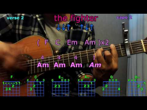 the fighter keith urban guitar chords