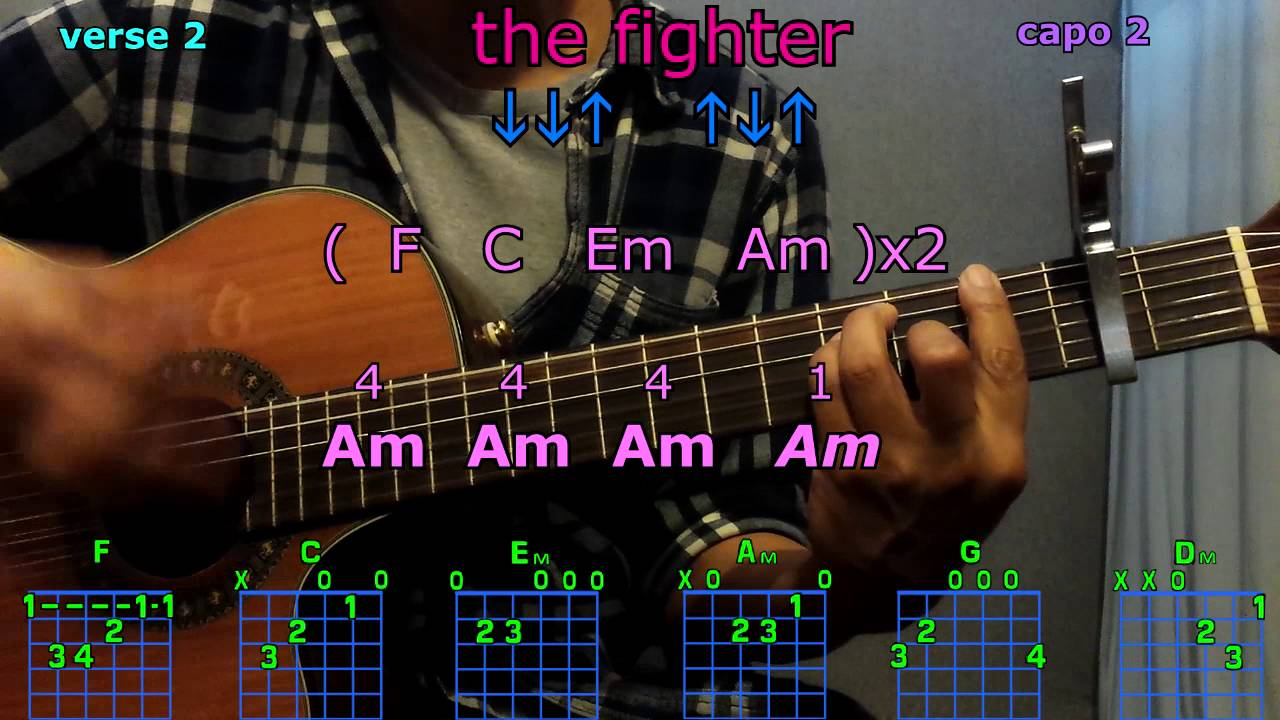 The Fighter Keith Urban Guitar Chords Youtube