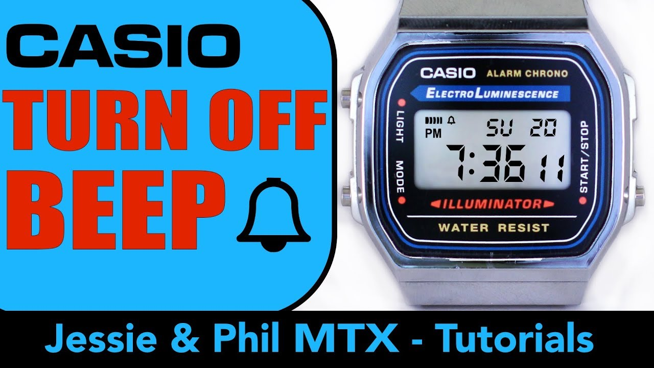 How to turn hourly Beep OFF / ON on CASIO Collection Retro, unisex, A168WA  (one minute tuto 4k)