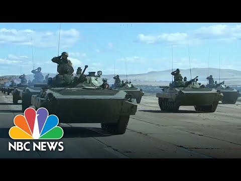 President Vladimir Putin Watches Huge Russian Military Drill