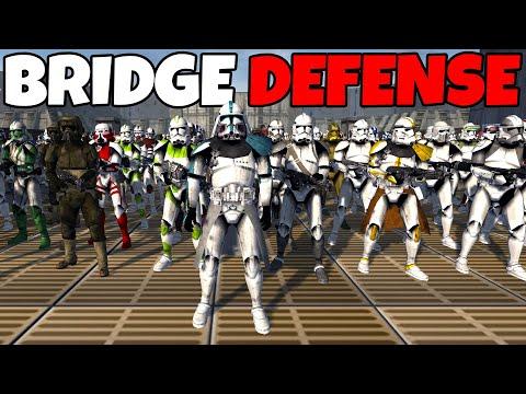 Can 300 Clones of Every Legion Hold the BRIDGE!? - Men of War: Star Wars Mod Battle Simulator
