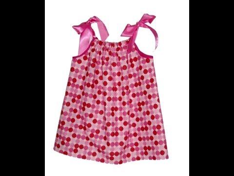 2a236b91d Como hacer un vestido con una funda de almohada para niñas y mamas ...