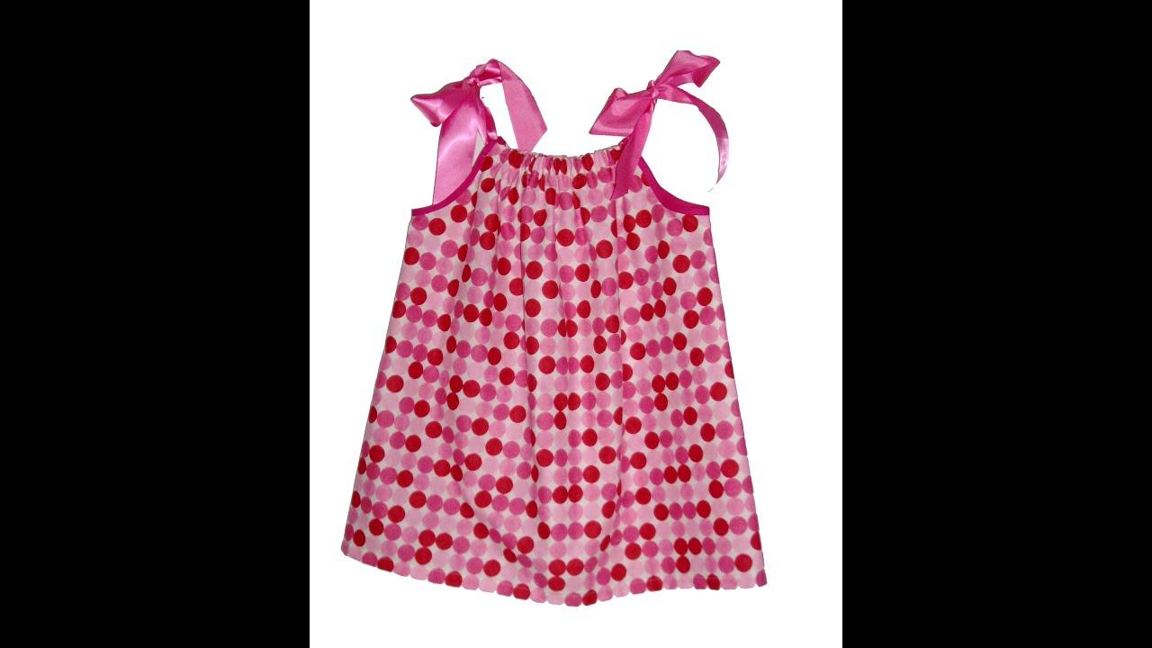 Como hacer un vestido con una funda de almohada para niñas y mamas ...