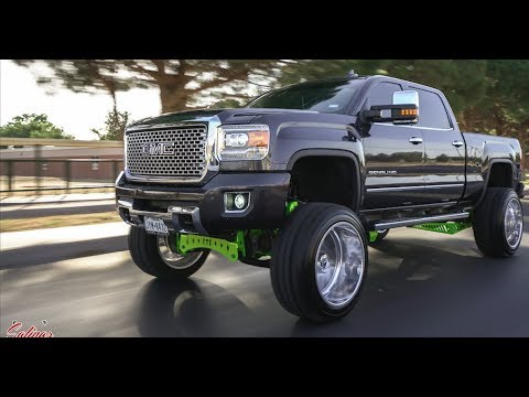 BEATIFUL GRAY GMC DENALI 2500 LIFTED 9 inches on 24x14s ...