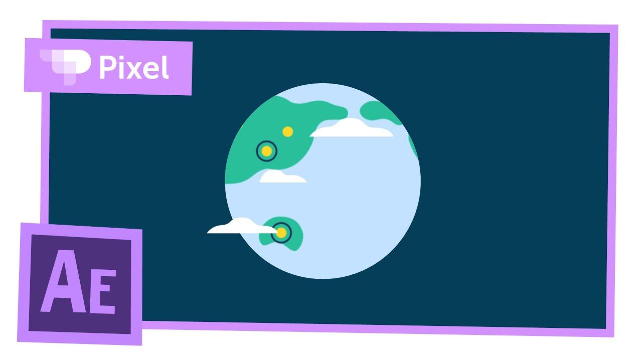 Анимируем планету в After Effects | уроки для новичков