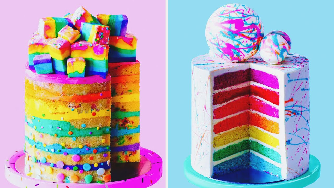 10 Perfect Colorful Cake Tutorials Impress Your Lover | Beautiful Buttercream Cake Decorating Ideas
